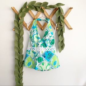 Lilly Pulitzer Starboard Patch Halter Top